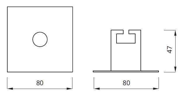 Размер аварийного светильника, встраиваемого в потолок EYE LED Square