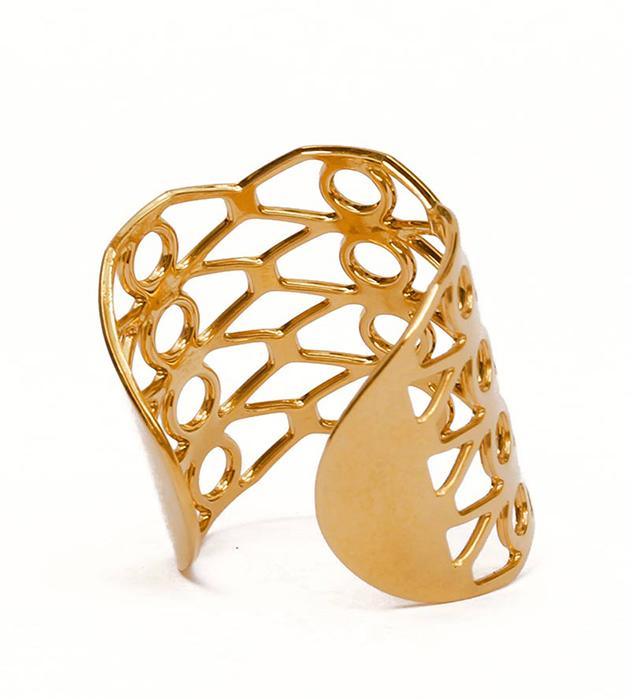 купите резное кольцо золотогo цвета от Chic Alors Paris - Palma