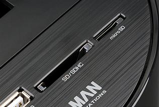 Встроенные SD, SDHC и микро SD кардридер