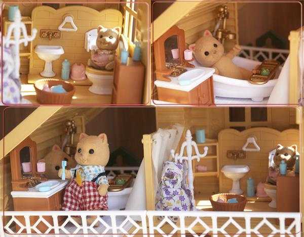 Ванная комната в загородном домике Happy family 012-03