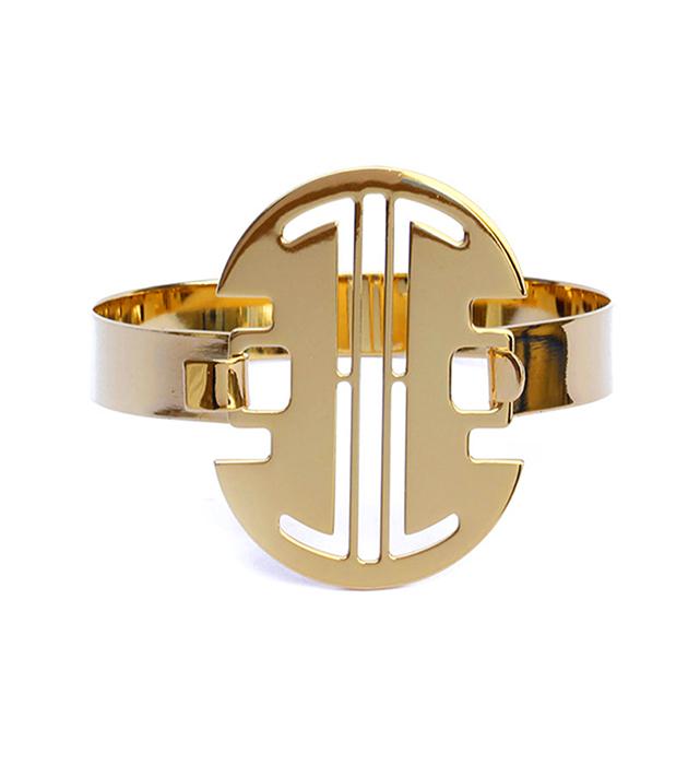 купите эффектный браслет из позолоченной латуни от Chic Alors Paris - Grec