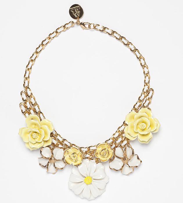 эффектное ожерелье из фарфора и кожи Daisy Crew ANDRES GALLARDO