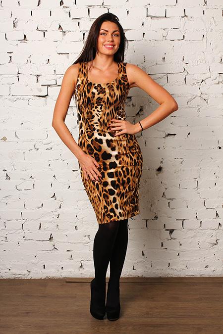 Леопардовое платье Anna Rachele