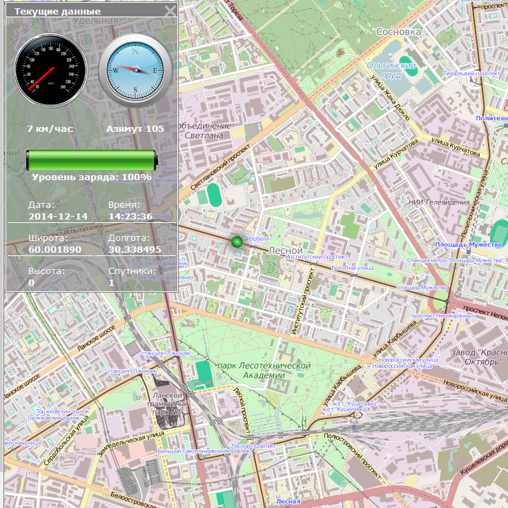 GPS/ГЛОНАСС online мониторинг