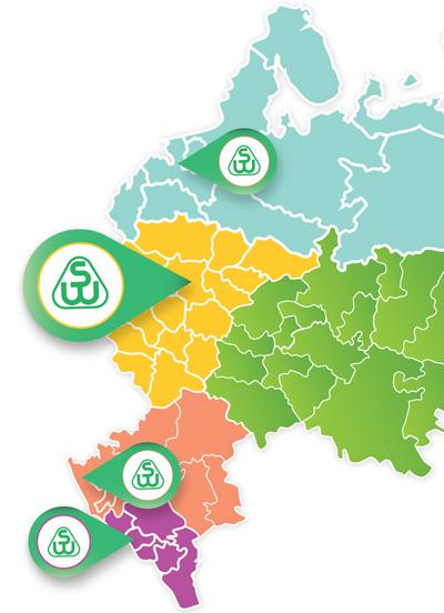 Карта с представительствами