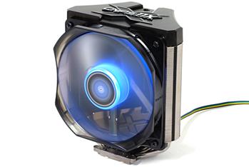 Ультратихий 120мм синий LED PWM вентилятор