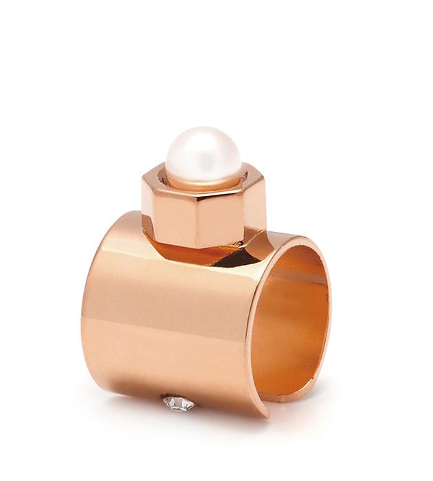 оригинальная серьга-кафф Pearl цвета розового золота от итальянского бренда Maria Francesca Pepe