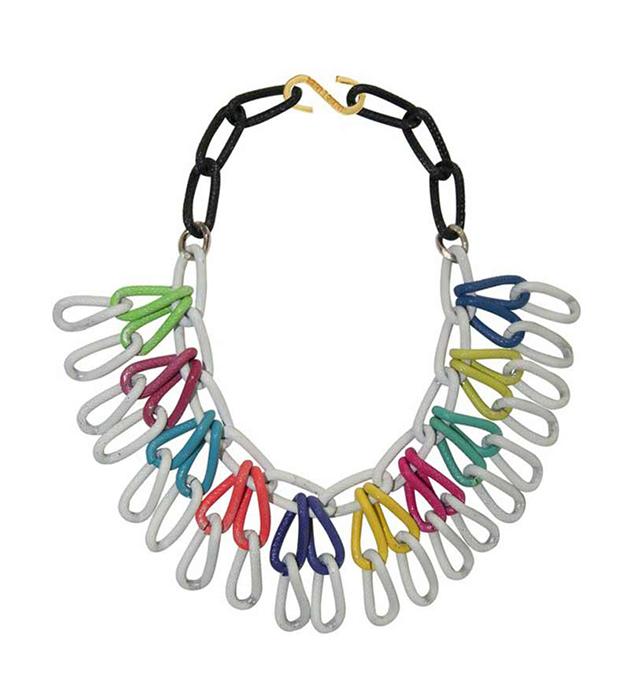 купите необычное цветное колье из цепей от Sister Sister Project