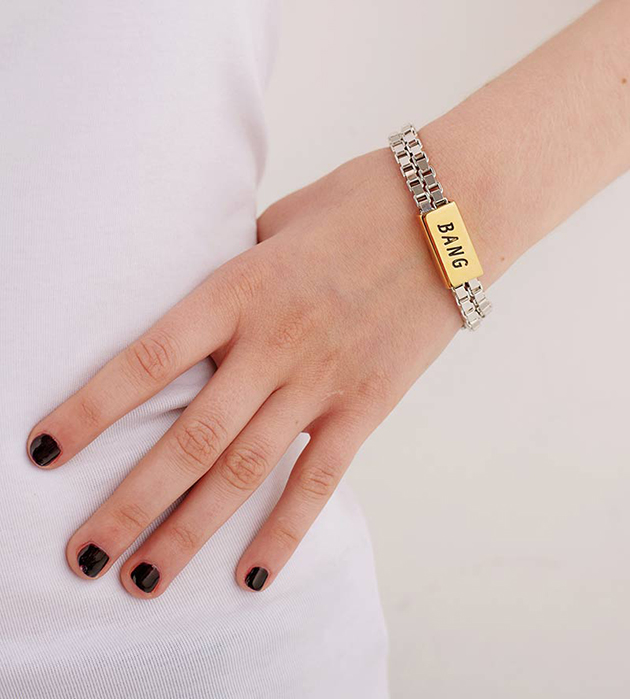 необычный браслет в стиле кэжуал с надписью BANG от Chic Alors-Paris
