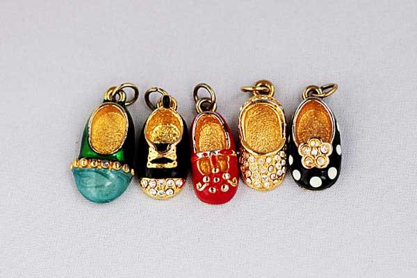 купить Винтажное ожерелье-цепочка с подвесками-туфельками Florenza 80гг