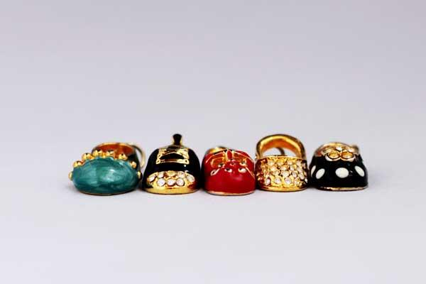 Винтажное ожерелье с подвесками-туфельками Florenza 80гг