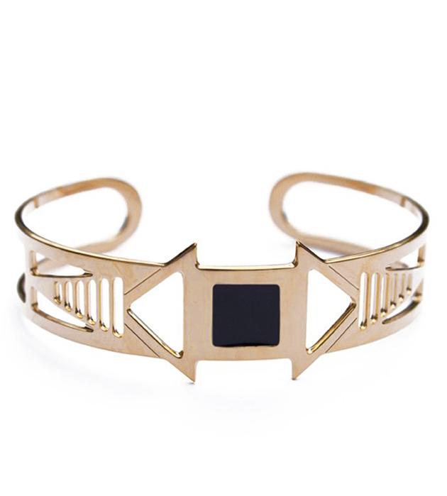 купите необычный браслет-манжет с эмалью Louxor noir от Chic Alors-Paris