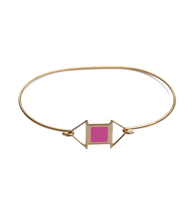 купите изящный браслет из позолоченной латуни в стиле арт-деко Edwin rose от Chic Alors-Paris