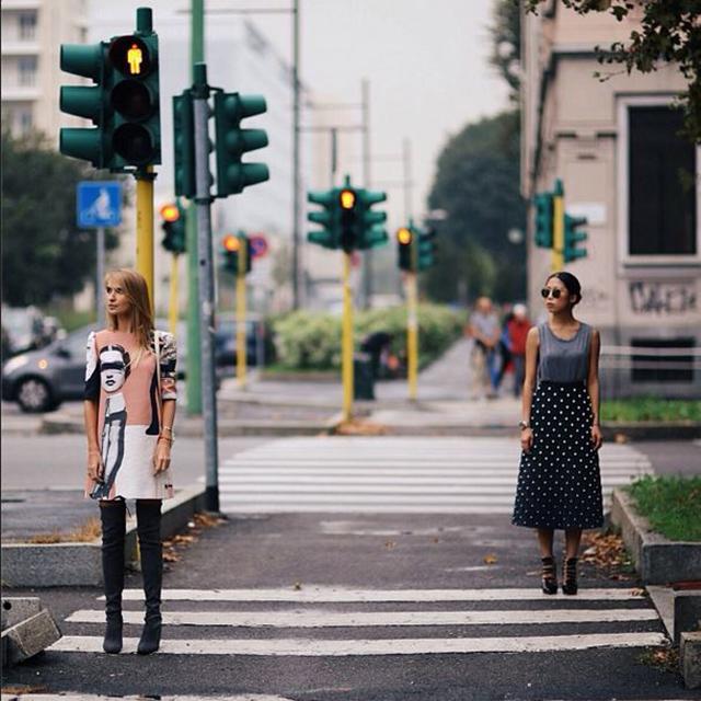 стилисты Оксана Oн @oksanaon и Мария Колосова @kyklamasha на Миланскoй неделе моды