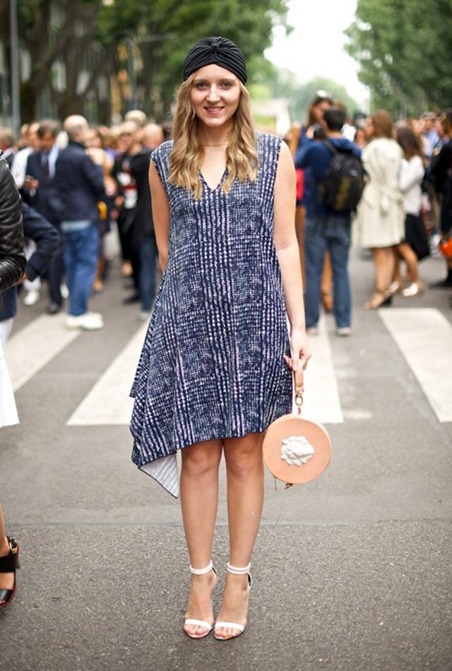 Дарья Куниловская на Миланской неделе моды