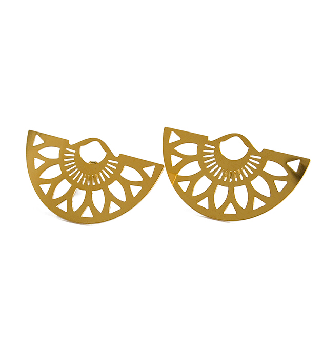 купите серьги Appoline золотого цвета от Chic Alors-Paris