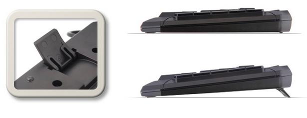 Два уровня наклона клавиатуры