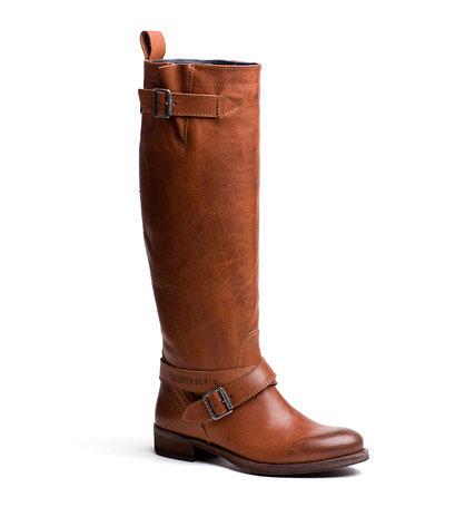 купить КОЖАНЫЕ САПОГИ женские коричневые сапоги Tommy Hilfiger фото
