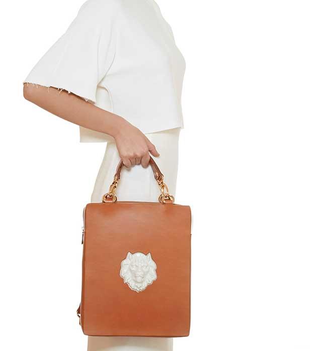 купите элегантная сумка-рюкзак из кожи от ANDRES GALLARDO - Bagpack Lion Bag Black