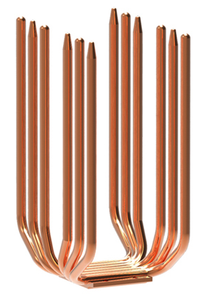 U-образный сдвоенный теплоотвод