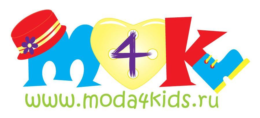 Новый логотип moda4kids, детская французская мода