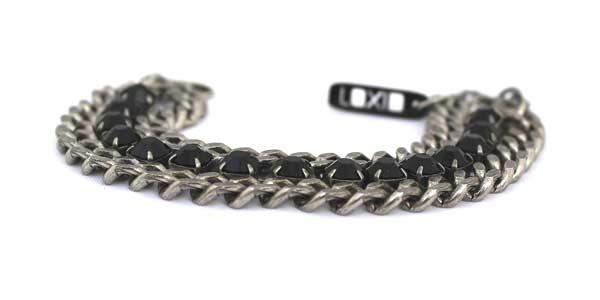 женский массивный браслет-цепь с кристаллами сваровски картинки