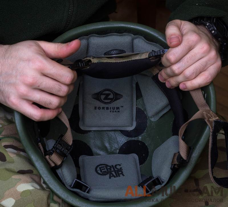 Модификация общевойскового шлема 6б7