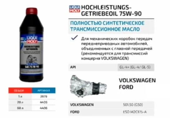 Синтетическое трансмиссионное масло