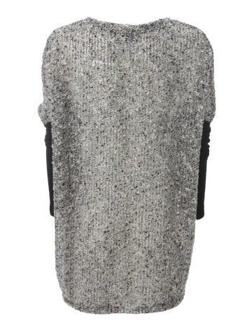 Серый удлиненный вязаный свитер купить