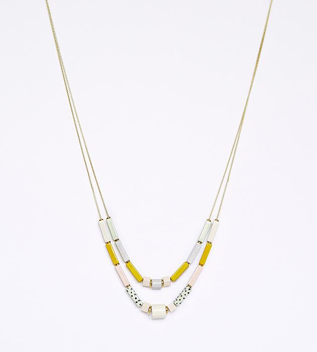 изящное ожерелье из дерева Albion от Apres Ski
