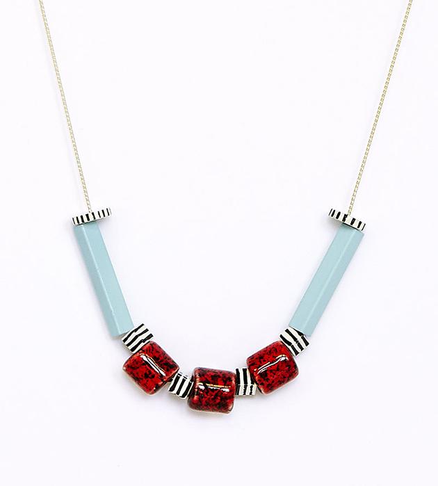 оригинальное ожерелье из керамики и дерева DUSK от Apres Ski