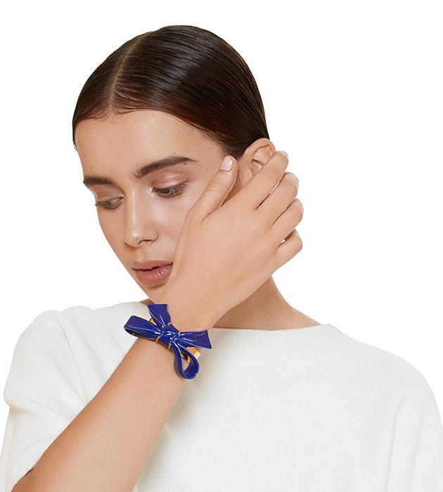 купите золотисто-синий браслет Bow Blue от ANDRES GALLARDO
