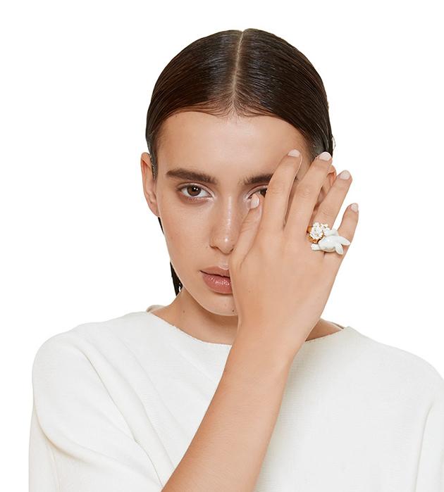 кольцо из фарфора Tambor от ANDRES GALLARDO