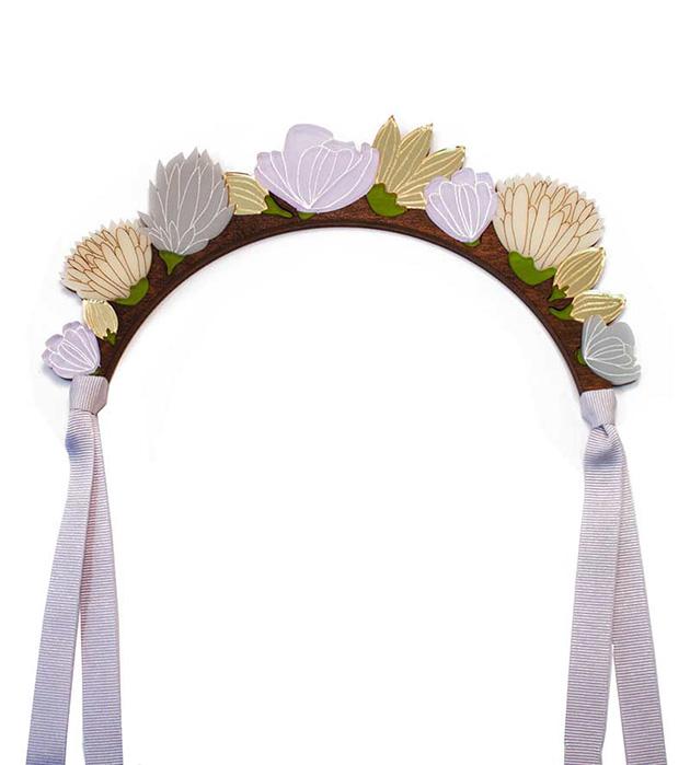 романтичное украшение для волос Flower Headpiece Lilac от Wolf&Moon