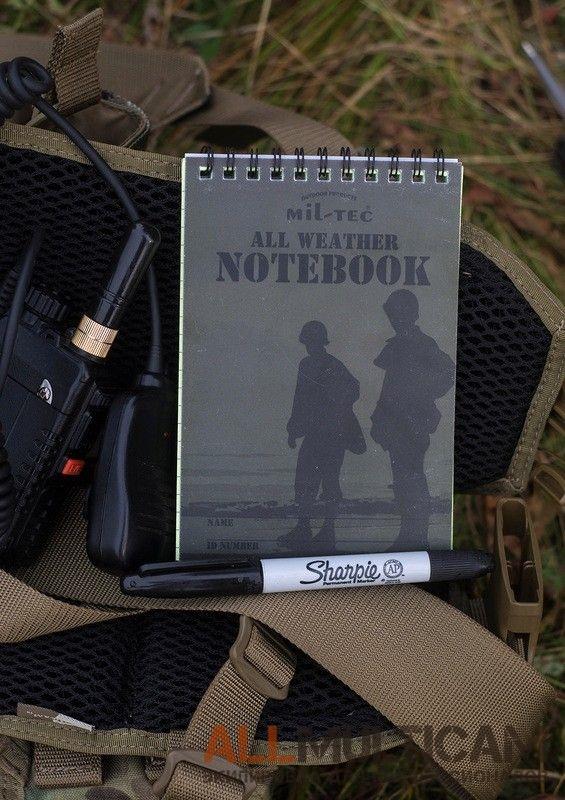 Водостойкий блокнот «All Weather Notebook» от Mil-tec