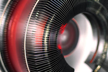 Ультратихий 135мм красный LED вентилятор