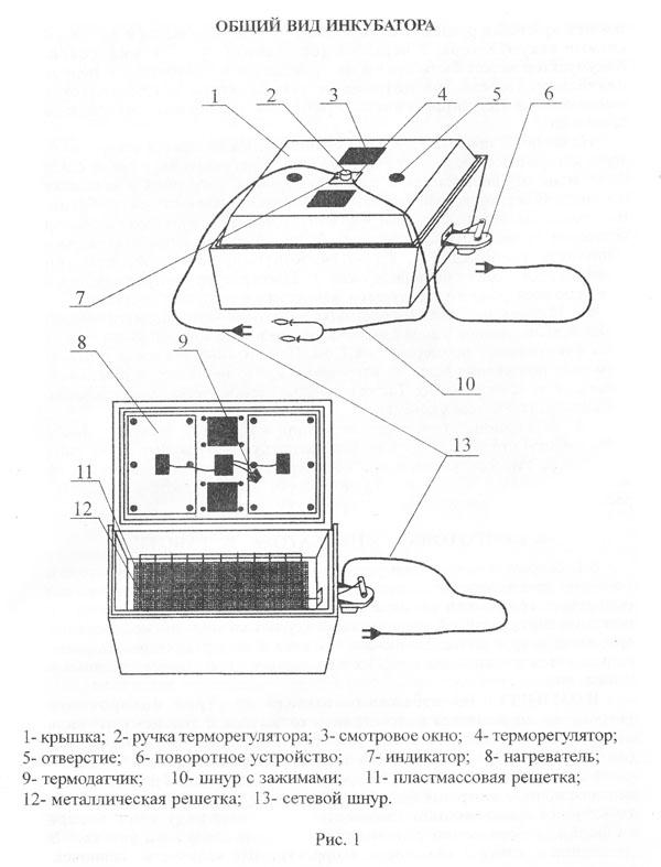 инструкция к инкубатору чебеш