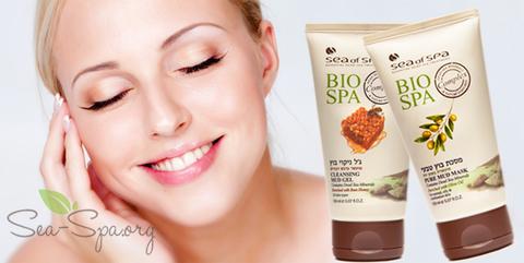 Глубокое очищение кожи лица с грязевыми продуктами Sea of SPA