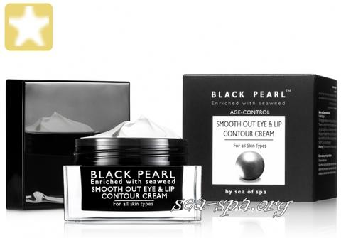 Обзор Разглаживающего контурного крема для глаз и губ линия Black Pearl Sea of SPA, 30мл