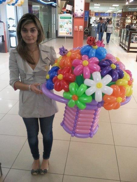 Корзины из шариков