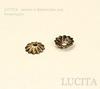 Шапочка для бусины текстурная (цвет - античная бронза) 6 мм, 10 штук ()