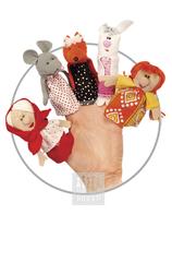Пальчиковые куклы Комплект № 4 ( 5 штук : внучка , заяц , лиса , мышь , бабка )