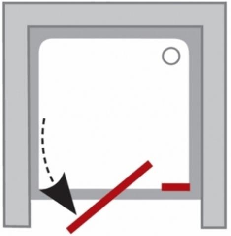 Ravak Pivot душевая дверь 110см двухэлементная (03GD0U00Z1)
