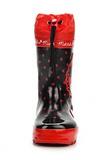 Резиновые сапоги Минни Маус (Minnie Mouse) на шнурках для девочек, цвет черный красный. Изображение 4 из 8.