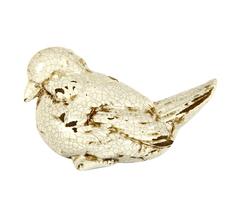 Элитная статуэтка Птичка Craquelure кремовая левая от Sporvil