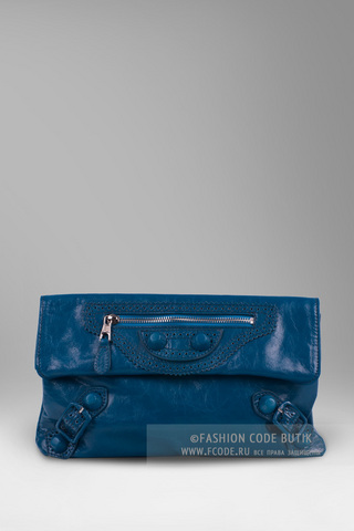 Balenciaga синий клатч Arena Giant Envelope Clutch Blue