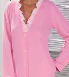 Розовый халат на пуговицах B&B