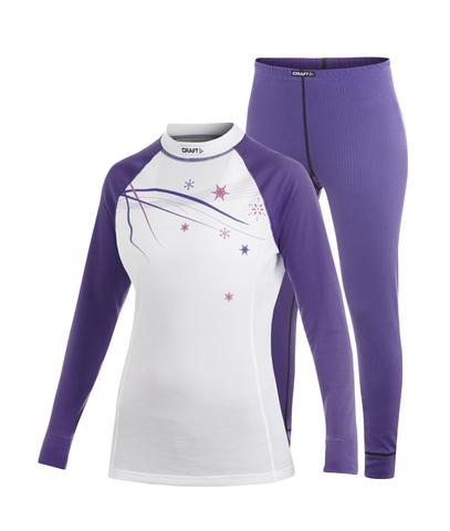 Комплект термобелья Craft Multi Active женский фиолетовый