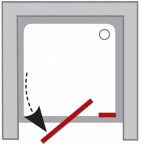 Ravak Pivot душевая дверь 120см двухэлементная (03GG0U00Z1)