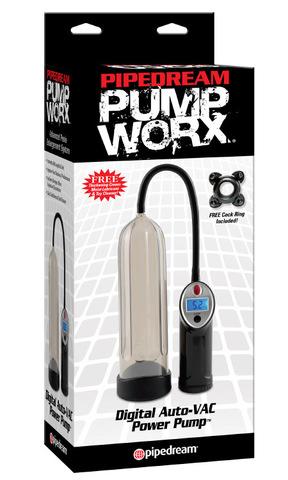 Мужская вакуумная помпа для увеличения члена с автоматическим насосом Digital Auto VAC Power Pump (6 х 25 см)